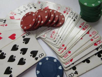 Pokern Karten und Token